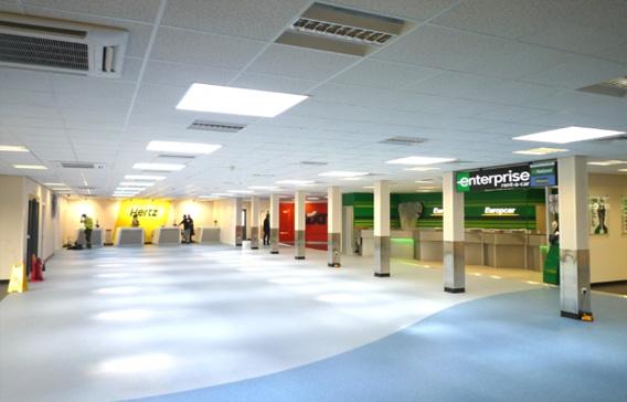 Interior of business modular building